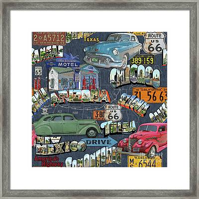 Route 66-jp3940 Framed Print by Jean Plout