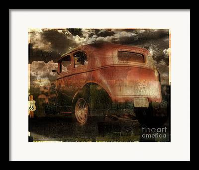 Rusted Cars Paintings Framed Prints