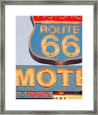 Route 66 Motel Seligman Arizona Framed Print by Wingsdomain Art and Photography