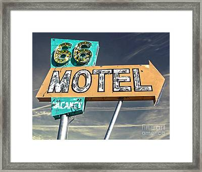 Route 66 Motel Sign Framed Print by Gregory Dyer
