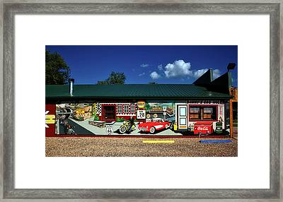 Route 66 Mural Framed Print by Mountain Dreams