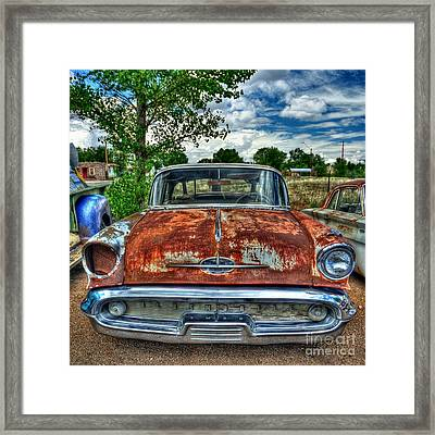 Route 66 Oldsmobile Framed Print by John Kelly