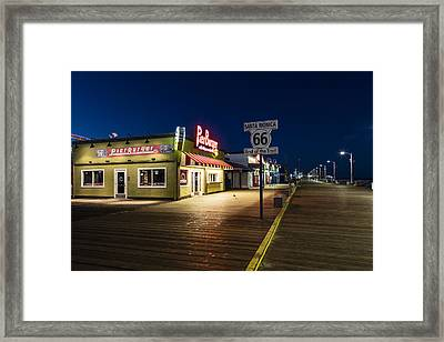 Route 66 Pier Burger Framed Print by John McGraw
