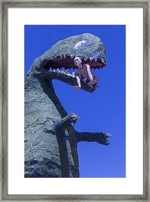 Route 66 Roadside Dinosaur Framed Print by Garry Gay