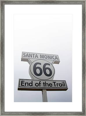 Route 66 Santa Monica- By Linda Woods Framed Print
