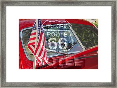Framed Print featuring the photograph Route 66 The American Highway by David Lee Thompson