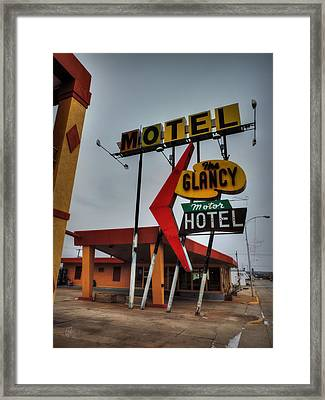 Route 66 - The Clancy Motel 001 Framed Print