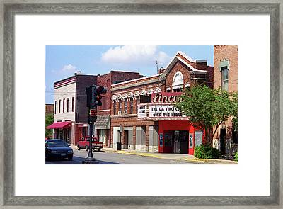 Route 66 Theater Framed Print by Frank Romeo