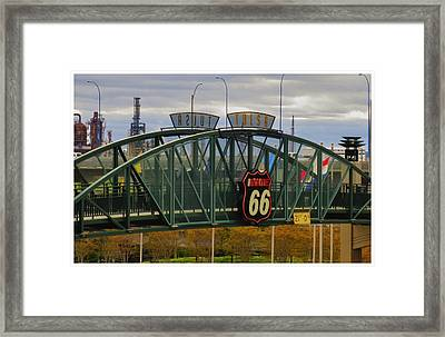 Route 66 Tulsa Sign - Hdr Framed Print by Tony Grider