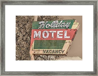 Framed Print featuring the photograph Route 66 Vintage Americana Holiday Motel by JC Findley