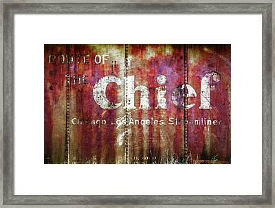 Framed Print featuring the photograph Route Of The Chief by Lou Novick