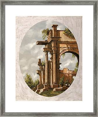 Rovine Romane Framed Print by Guido Borelli