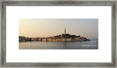 Rovinj Waterfront At Dawn Framed Print