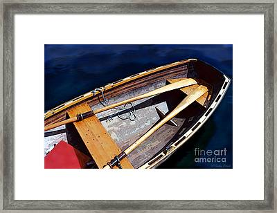 Framed Print featuring the photograph Row Boat Red Rillow by Susan Parish