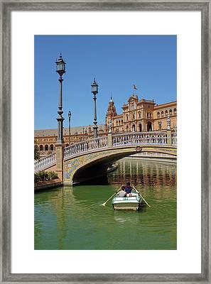 Row Boating In Seville Framed Print