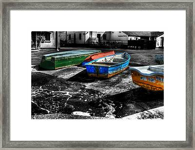 Row Boats At Mudeford Framed Print