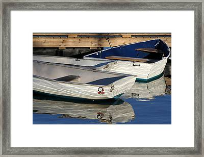 Row Boats In Manchesta  Framed Print by Juergen Roth