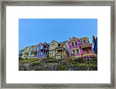 Row Houses Framed Print by Keith Allen