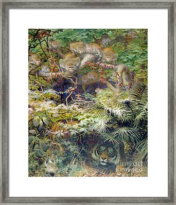 Row In The Jungle Framed Print