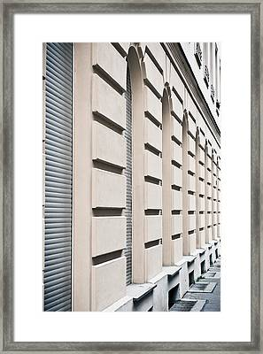 Row Of Arches Framed Print by Tom Gowanlock
