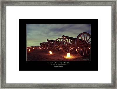 Row Of Cannon 98 Framed Print