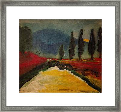 Row Of Cypress Framed Print