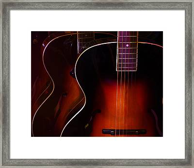 Row Of Guitars Framed Print