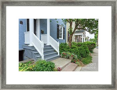 Row Of Historic Row Houses Framed Print by Edward Fielding