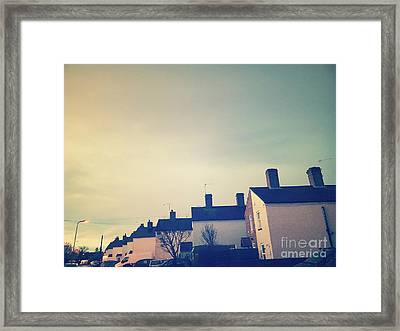 Row Of Houses Framed Print by Tom Gowanlock