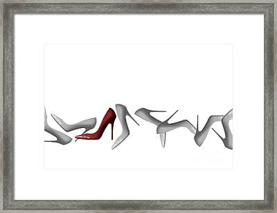Row Of Shoes Abstract - Natalie Kinnear Photography Framed Print