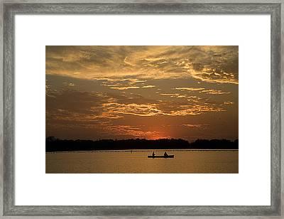 Row Row Row Your Canoe Framed Print by Theo Tan