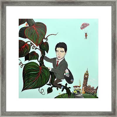 Rowan Atkinson Mr Beanstalk Framed Print