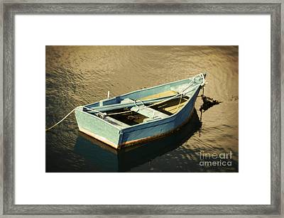 Rowboat At Twilight Framed Print by Mary Machare