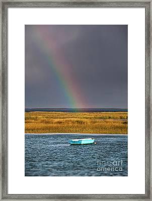 Rowboat Rainbow Framed Print