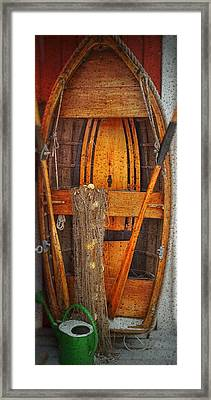 Rowboat Sandhamn Framed Print by Jeffrey Canha