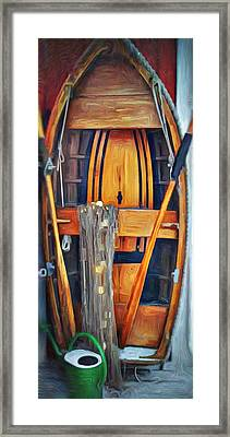 Rowboat Standing Time Framed Print by Jeffrey Canha