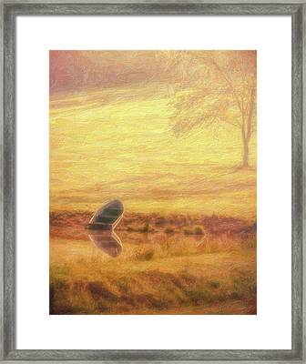 Rowboat Framed Print by Tom Mc Nemar