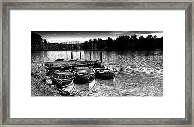Framed Print featuring the photograph Rowboats At The Dock 2 by David Patterson