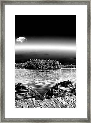Framed Print featuring the photograph Rowboats At The Dock 3 by David Patterson