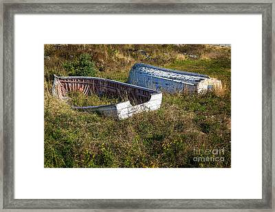 Rowboats In Brigus Framed Print by Verena Matthew