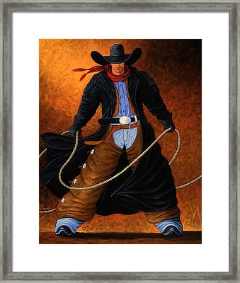 Rowdy Framed Print by Lance Headlee