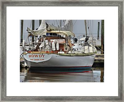 Rowdy Framed Print by Laura Ragland