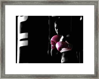 Rowdy Ronda Rousey Framed Print