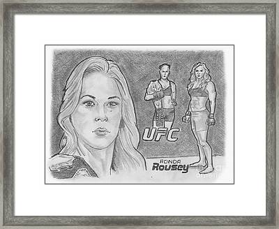 Rowdy Ronda Rousey Framed Print by Chris DelVecchio