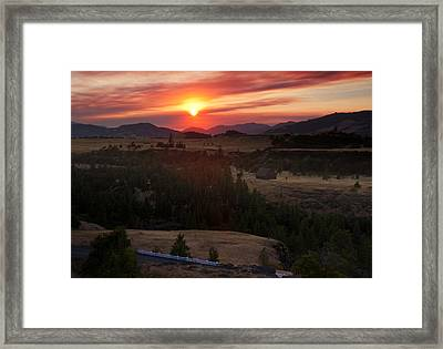 Rowena Sunset Framed Print