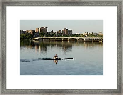 Rower Framed Print by Mimi Katz
