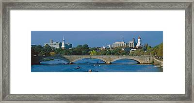 Rowers On Charles River, Harvard Framed Print by Panoramic Images