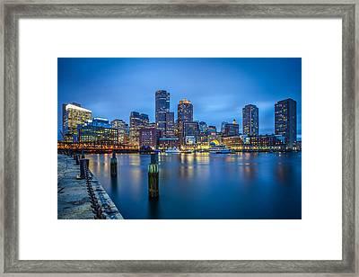 Rowes Wharf II Framed Print