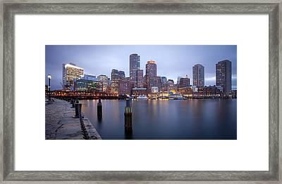 Rowes Wharf Framed Print