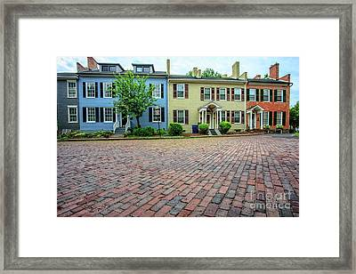 Rowhouses Geneva New York Framed Print by Edward Fielding